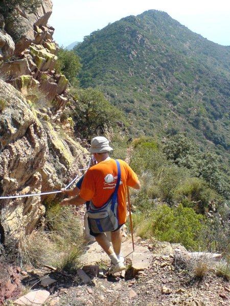 Bajando del pico Font de Cabres