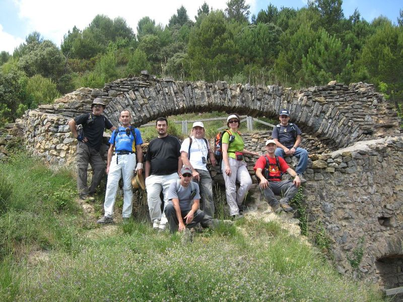 el grupo en la Nevera de Villamalur