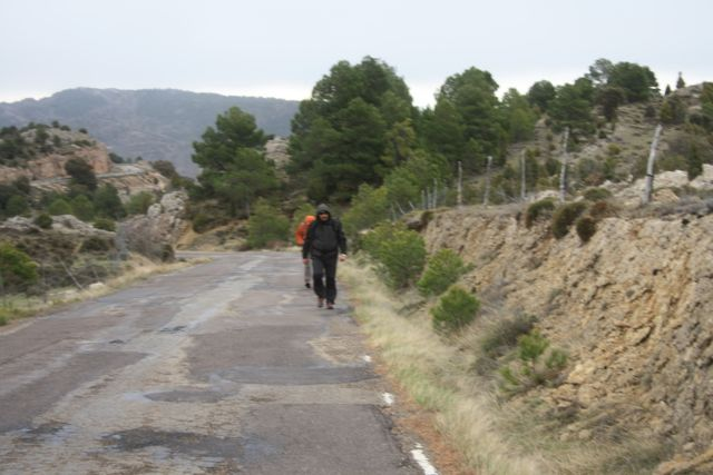 Subiendo por la carretera