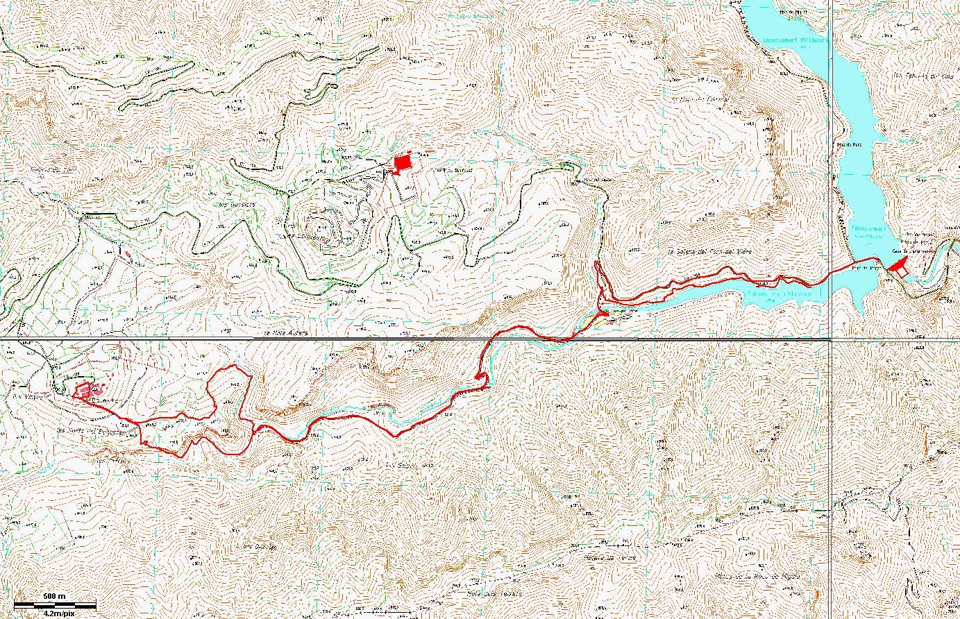 Pantano de Ulldecona - Ballestar - Pantano de Ulldecona